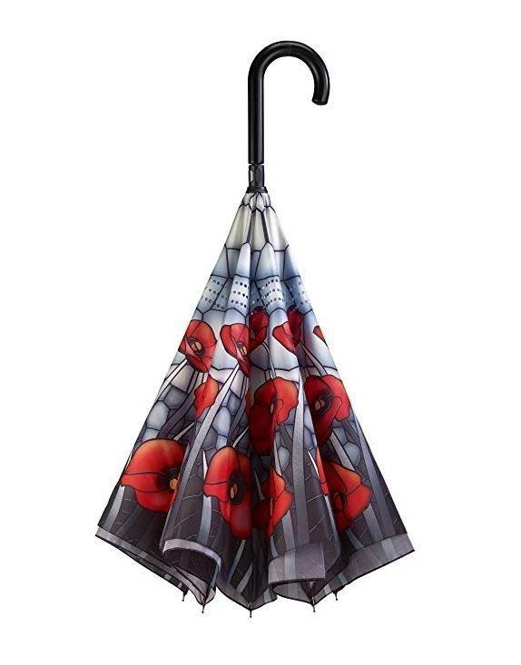 Witraż Maki - parasol odwrotny Galleria