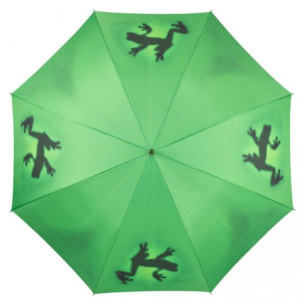 Żaba cień - parasol długi ze skórzaną rączką