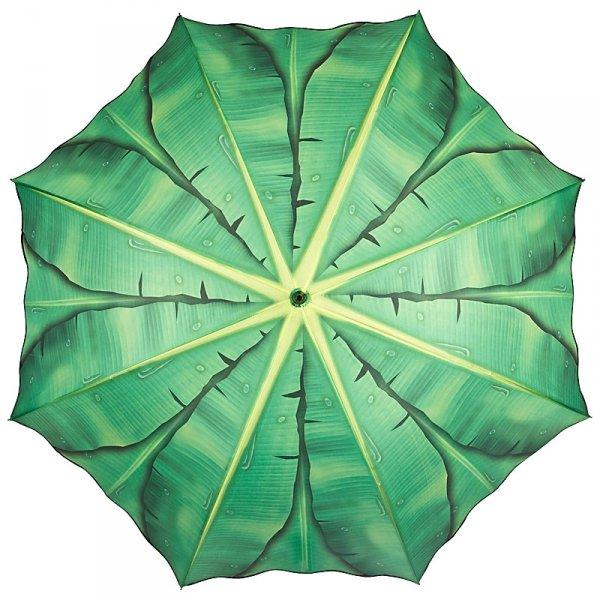 Liście bananowca - parasol długi ze skórzaną rączką