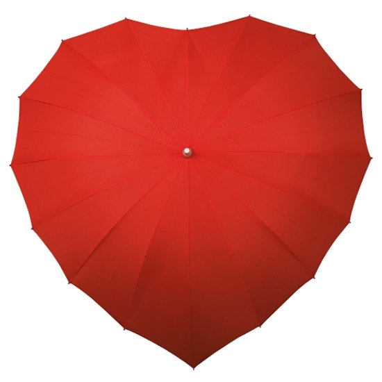 Serce - czerwona parasolka w kształcie serca