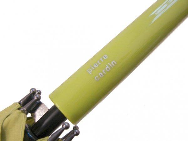 Pierre Cardin - zielone groszki - parasol długi automat