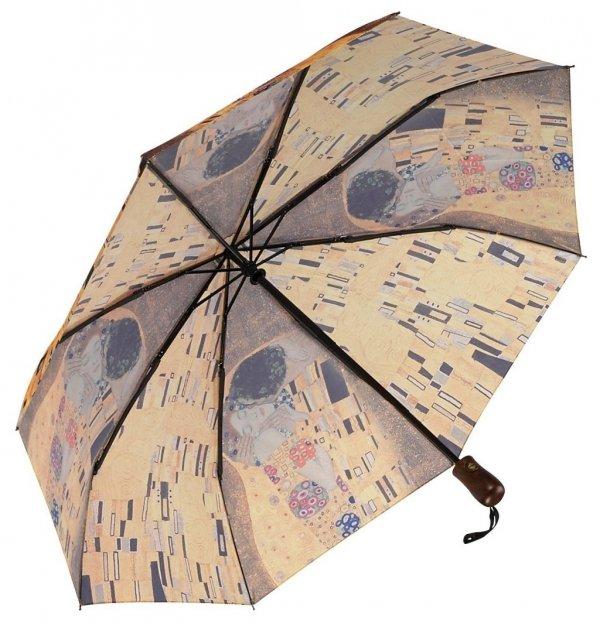 "Gustav Klimt ""Pocałunek"" parasolka składana Galleria"