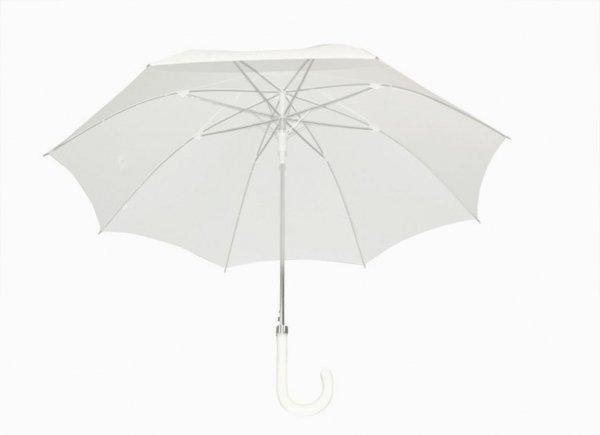 Zuzanna - biała parasolka ślubna automat