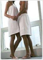 Okrycie do sauny Pareo: męskie 180x75 cm frotte brązowe
