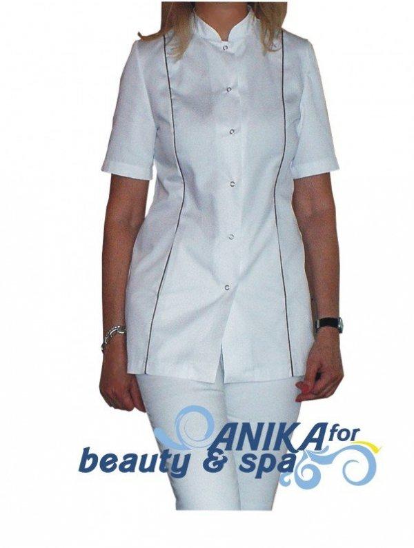 Żakiet kosmetyczny Mona Plus biały rozmiar 44