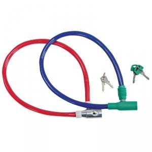 24902 Linka stalowa przeciwkradzieżowa na kluczyk powlekana PCV 550 mm, Mega