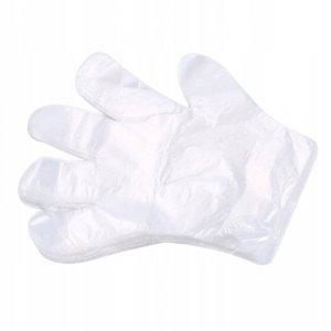 Rękawice foliowe jednorazowe hdpe 100szt., pr2912