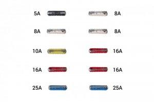 01137 Bezpieczniki samochodowe 10 sztuk blister cylindryczne