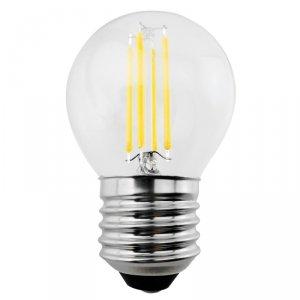 Żarówka LED Maclean, filamentowa LED E27, 6W, 230V, WW ciepła biała 3000K, 600lm, retro edison ozdobna G45, MCE284