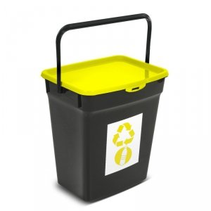 Kosz do segregacji śmieci Plast Team 10L żółty