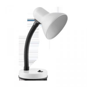 FUPI, lampa biurkowa, 40W, E27, stal + tworzywo, biała