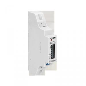 1-fazowy wskaźnik zużycia energii elektrycznej, 40A, wyjście impulsowe, 1 moduł, DIN TH-35mm