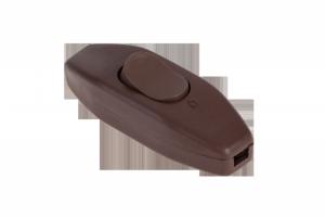 Złącze przełącznik przelotowy brązowy 2,5A/250V