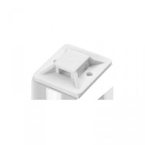 Uchwyt opaski kablowej, samoprzylepny, 20x20 mm, biały, 50 sztuk