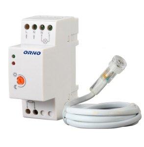 Czujnik zmierzchowy na szynę DIN z hermetyczną zewnętrzną sondą, IP65, 3000W