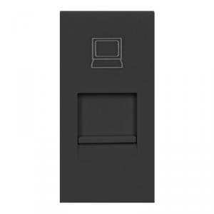 NOEN RJ45, gniazdo modułowe 22,5x45mm RJ45 cat 5e, czarne