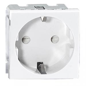 NOEN GS, gniazdo modułowe 45x45mm 1x2P+Z, typ F schuko, 16A 250V, białe