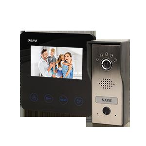 Zestaw wideodomofonowy, bezsłuchawkowy, kolor, LCD 4,3, czarny, DUX