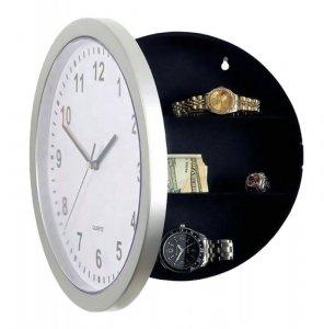 ZG20 Zegar ścienny 25cm sejf skrytka