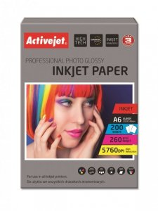 Papier fotograficzny Activejet AP6-260GR200 (A6; 200 szt.)