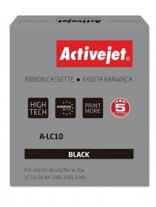 Kaseta barwiąca Activejet A-LC10 (zamiennik Star LC10; Supreme; czarny)