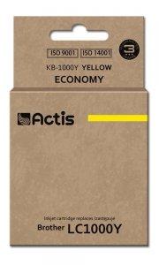 Tusz ACTIS KB-1000Y (zamiennik Brother LC1000Y/LC970Y; Standard; 36 ml; żółty)