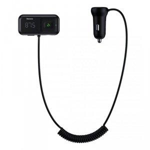 BASEUS TRANSMITER FM AUX, BT, MICROSD 2X USB CZARN