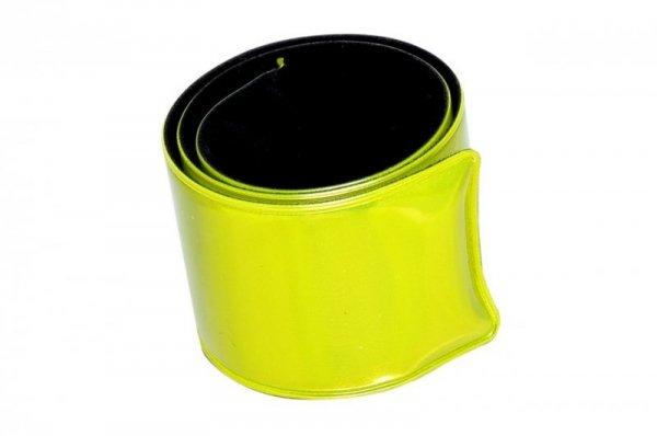 Opaska odblaskowa, samozaciskowa - żółta