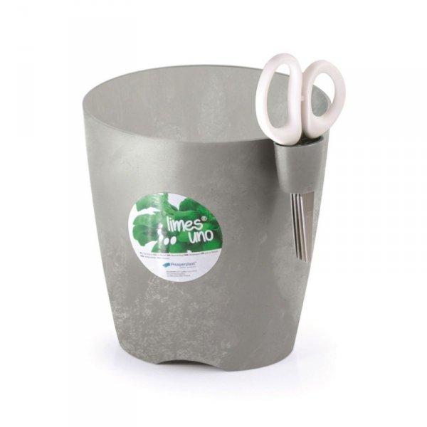 Doniczka do ziół z nożyczkami Limes Uno DLU150 betonowa