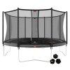 BERG Trampolina Favorit Gray 430 cm + Siatka Bezpieczeństwa Comfort + Gra Zręcznościowo Logiczna LEVELS
