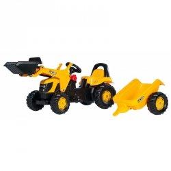 Rolly Toys rollyKid Traktor na pedały JCB z łyżką i przyczepą 2-5 Lat