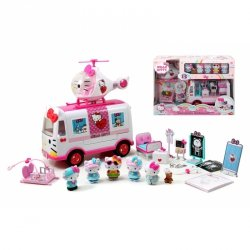 DICKIE Hello Kitty Ambulans Ratunkowy Figurki Helikopter