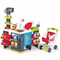 Smoby MaxiMarket z Wózkiem 50 akc Supermarket