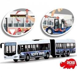 Przegubowy Autobus City Express 46cm Biały Dickie