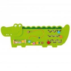 Sensoryczna Drewniana Tablica Manipulacyjna Viga Toys Krokodyl Certyfikat FSC