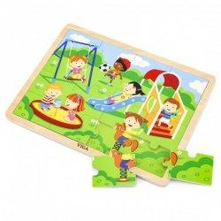 VIGA Drewniane Puzzle Plac Zabaw 16 elementów