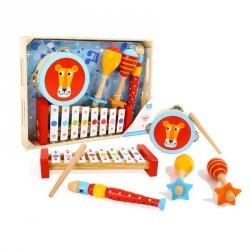 TOOKY TOY Instrumenty Muzyczne Cymbałki Bębenek Flet Marakasy