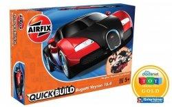 Model plastikowy Quickbuild Bugatti Veyron czarny/czerwony