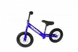 Rowerek biegowy  pompowane koła dla dzieci PL-12 Niebieski Metalic