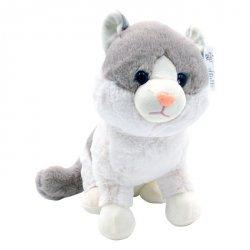 Maskotka Kotek Mruczuś beżowo-biały 27cm