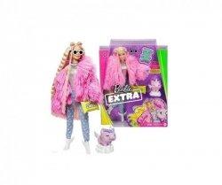Lalka Barbie Extra Moda Blondynka różowe futro
