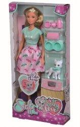 Lalka Steffi z kotkiem