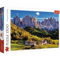 Puzzle 1500 elementów Dolina Val di Funes Dolomity Włochy