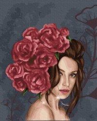 Obraz Malowanie po numerach Pani róża