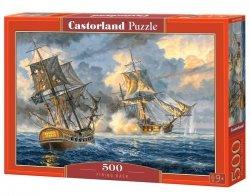 Puzzle 500 elementów Okręt malarstwo Firing Back