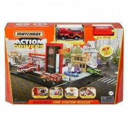 Zestaw z garażem Matchbox Prawdziwe Przygody Straż Pożarna