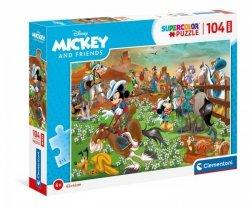 Puzzle 104 elementy Maxi - Myszka Miki i Przyjaciele