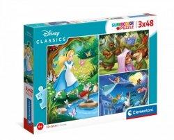 Puzzle 3x48 elementów - Disney Classic