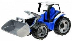 Traktor z łyżką luzem w szarym kartonie Niebieski