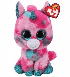 Maskotka TY Jednorożec różowo-niebieski Gumball 15 cm
